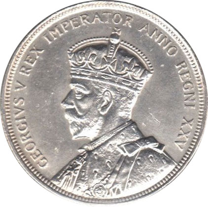 AU-50 - 1 dollar 1935 et 1936 - George V