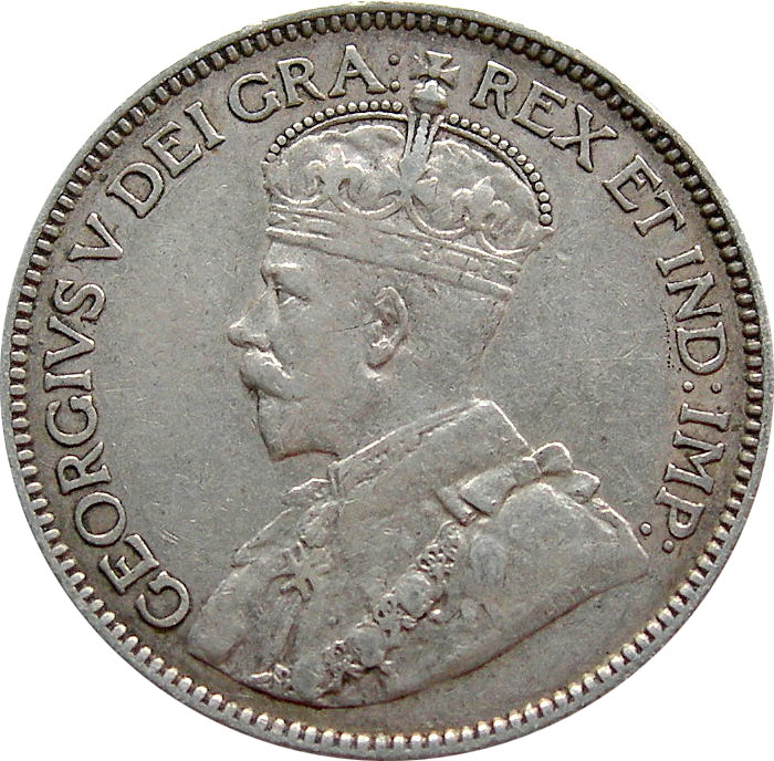 VF-20 - 25 cents 1911 à 1936 - George V