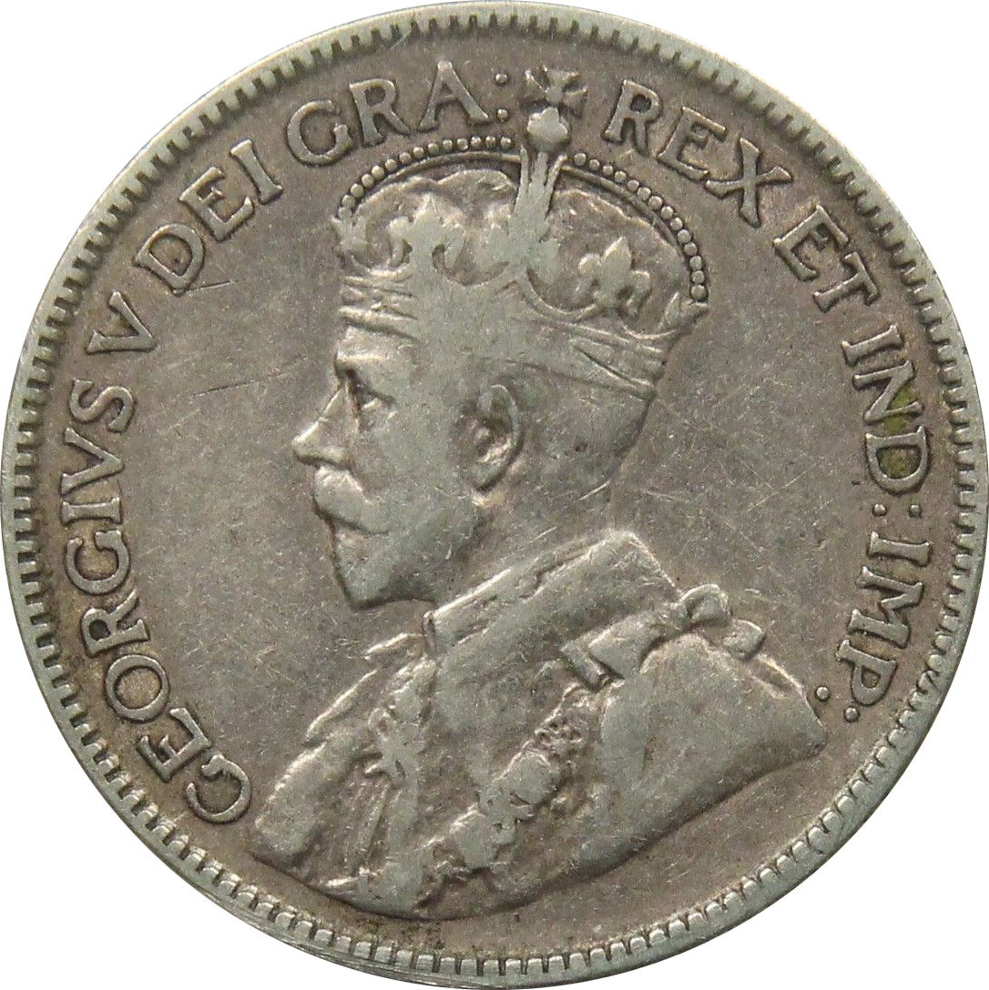 F-12 - 25 cents 1911 à 1936 - George V