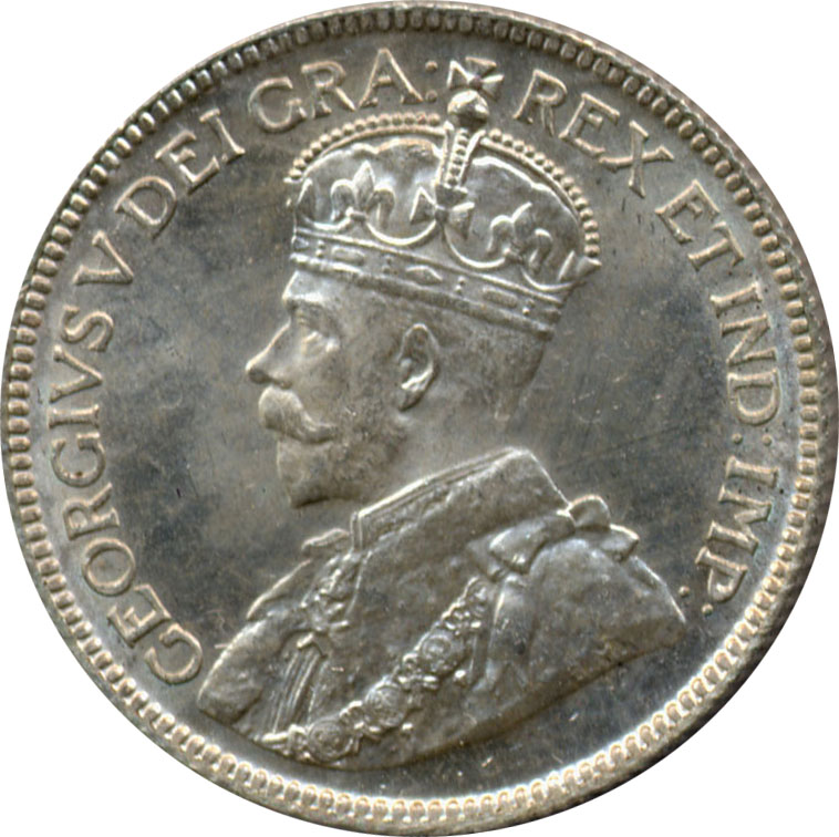 MS-60 - 25 cents 1911 à 1936 - George V