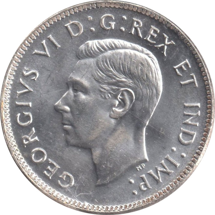 MS-60 - 25 cents 1937 à 1952 - George VI