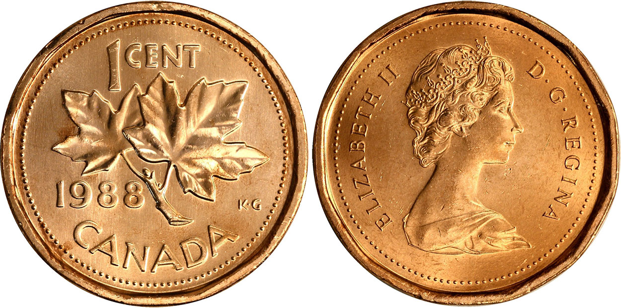 Coins And Canada 1 Cent 1988 Canadian Coins Price