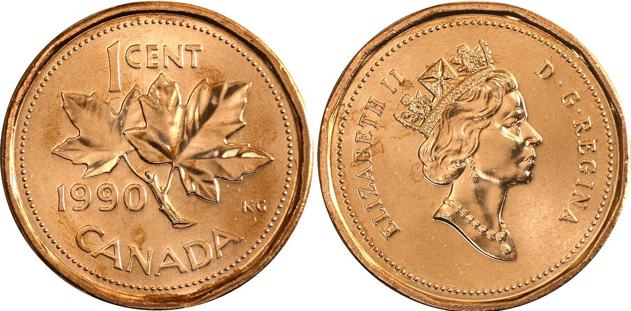 1990 canada dollar coin