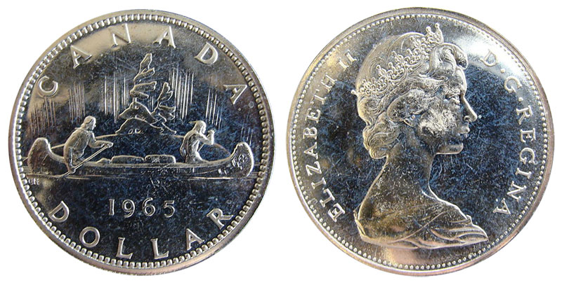 Coins And Canada 1 Dollar 1965 Canadian Coins Price