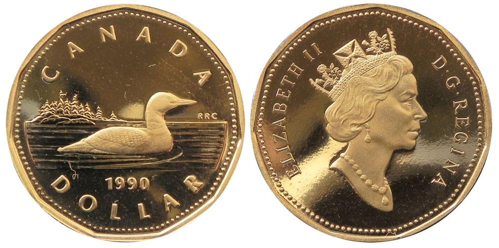 Numicanada 1 Dollar 1990 Valeur Des Pi 232 Ces De Monnaie