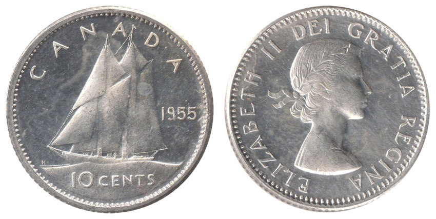 10 cents 1955