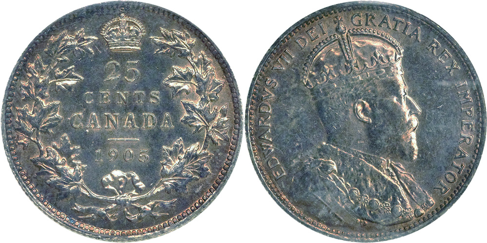 25 cents 1905