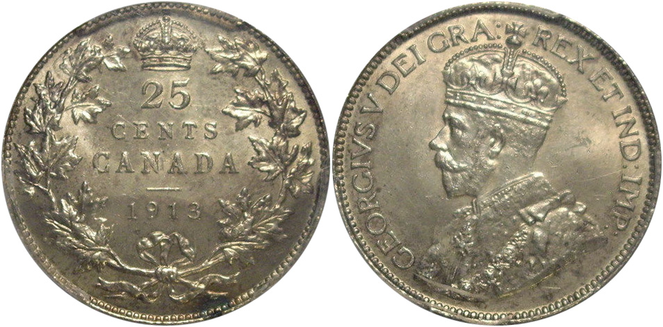 25 cents 1913