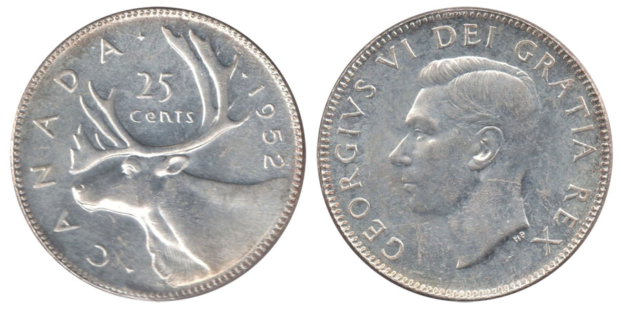 25 cents 1952