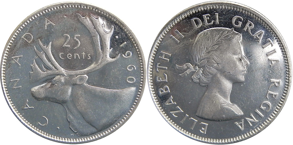 25 cents 1960