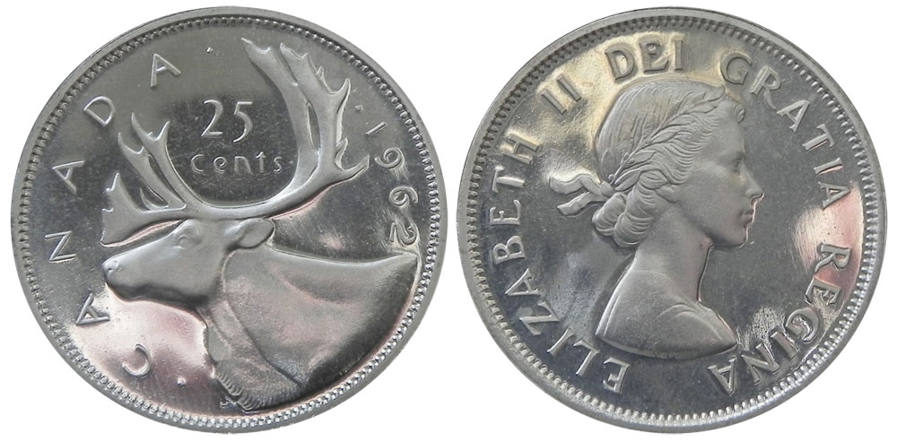 25 cents 1962