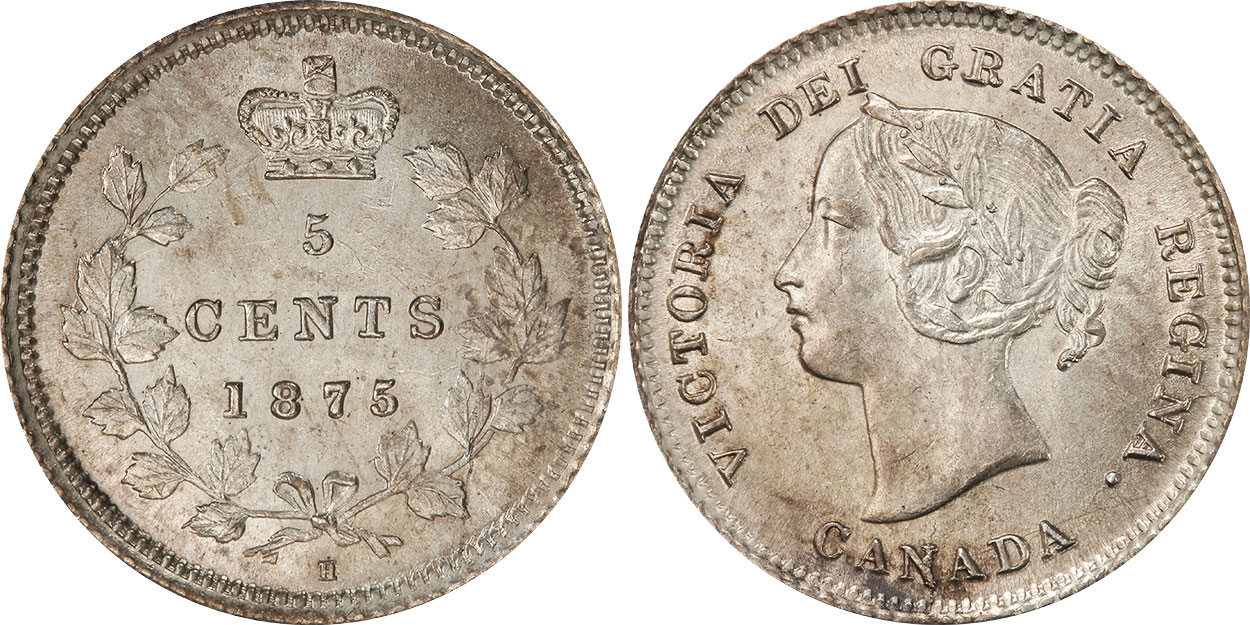 5 cents 1875