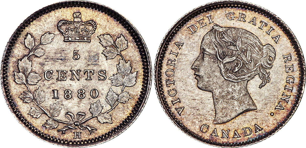 5 cents 1880