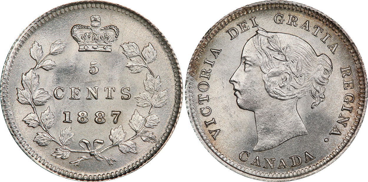 5 cents 1888