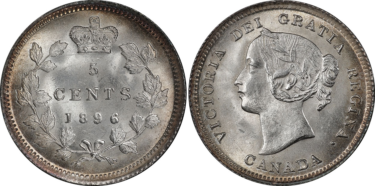 5 cents 1896