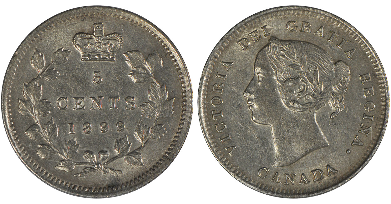5 cents 1899