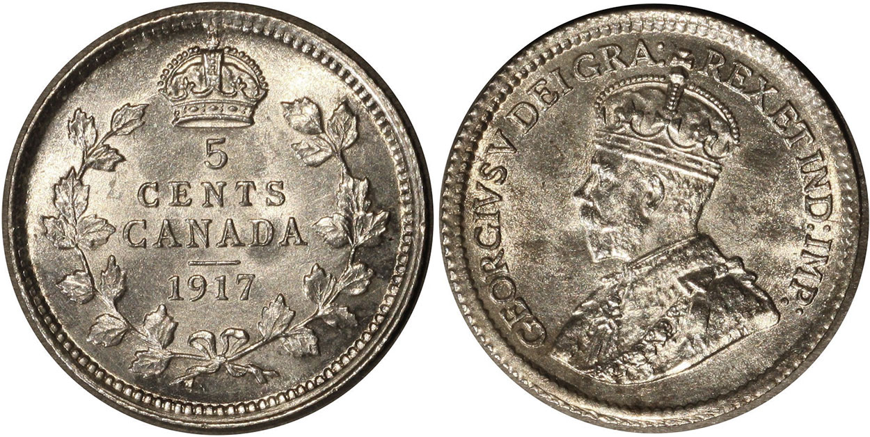 5 cents 1917