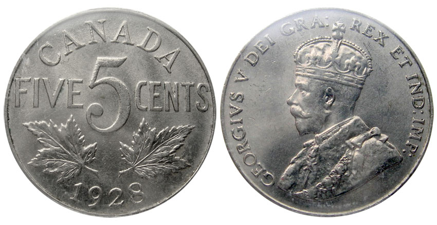 5 cents 1928