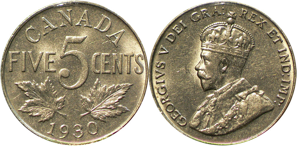 5 cents 1930