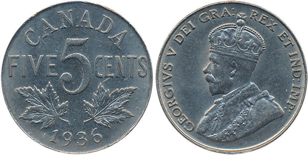 5 cents 1936