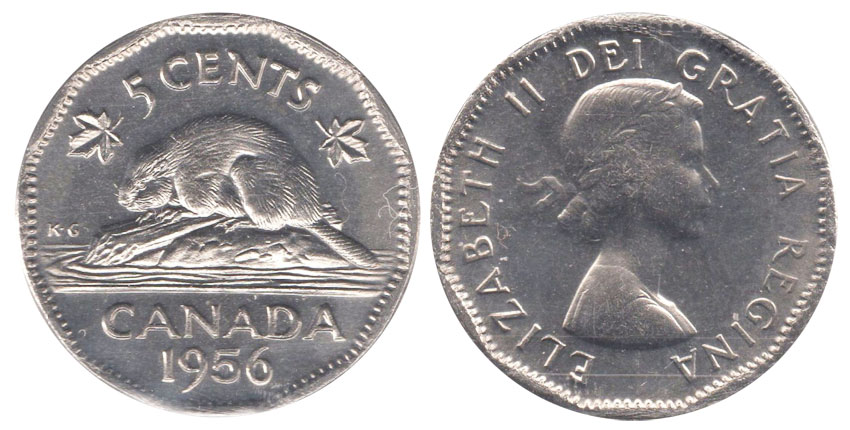 5 cents 1956