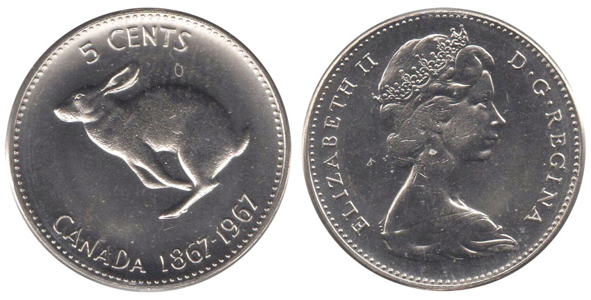 5 cents 1967