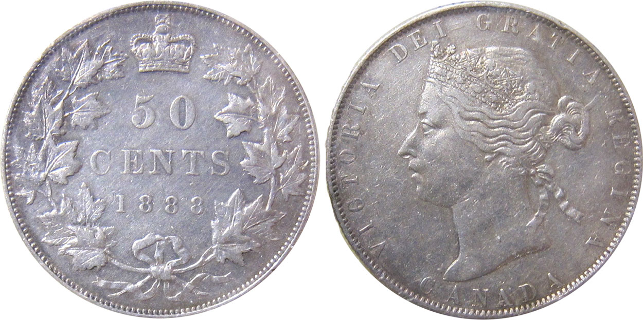 50 cents 1888