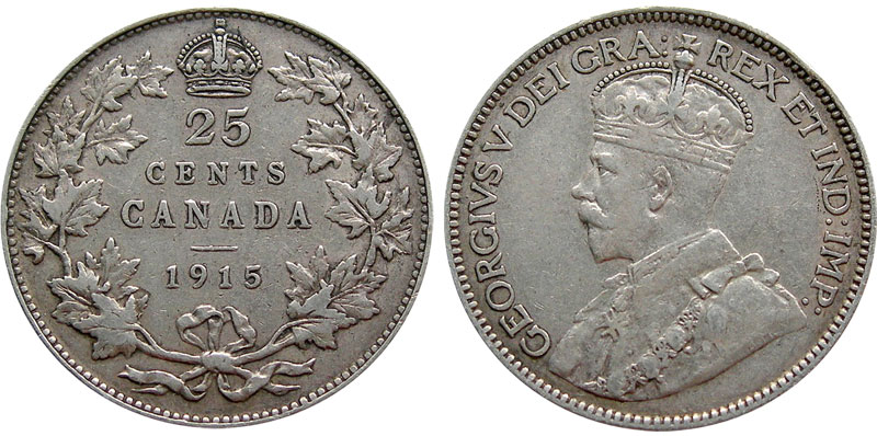 25 cents 1916